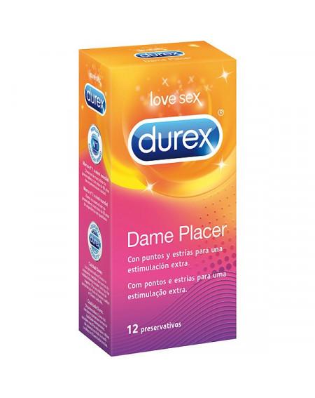 DUREX PRESERVATIVO DAME PLACER 12 UNIDADES