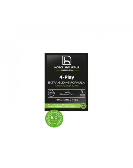 HOMONATURALS LUBRICANTE 4-PLAY 4ML 10 UNIDADES