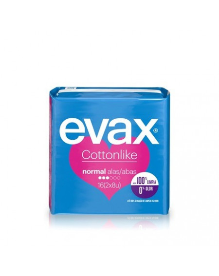 EVAX COMPRESA COTTONLIKE NORMAL ALAS 16 UNIDADES