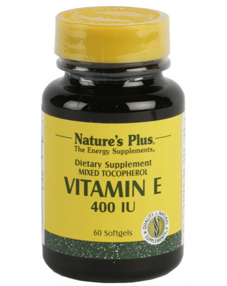 NATURES PLUS VITAMINA E 400 IU 60 PERLAS