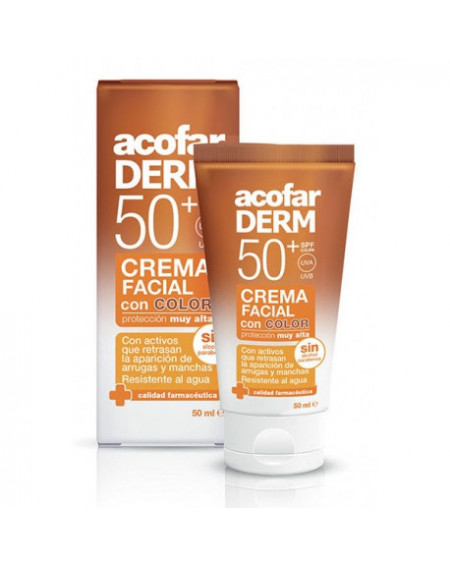 ACOFARDERM SPF50 CREMA FACIAL CON COLOR 50ML